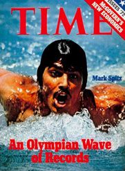 Mark spitz winning seven gold medals in a single olympiad