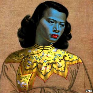 切奇科夫名画《中国女孩》将拍卖