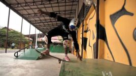 Cambodians get lessons in skateboarding, life