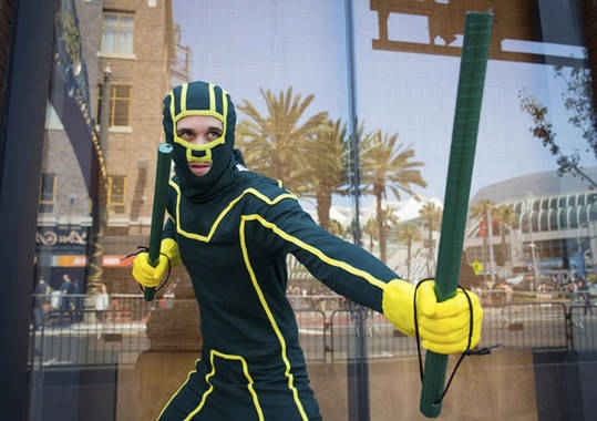 Cosplayers show comic characters in San Diego