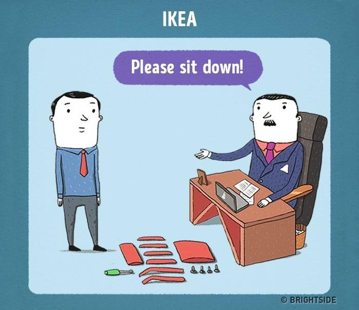搞笑漫画:顶级公司面试是什么样?(组图)