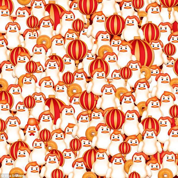 新春游戏:你能在这一群母鸡中找出公鸡吗?