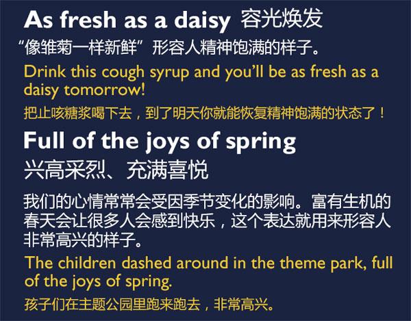 五种和春天有关的英语表达