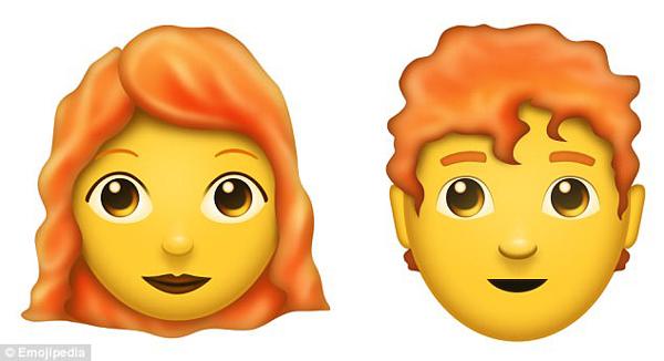 emoji又出新表情了!光头和红发人士也将拥有专属表情图片