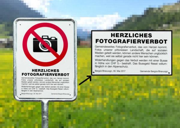 瑞士山村禁止游客拍照 理由竟是风景太美(组图)