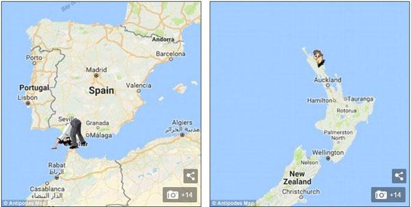 地球另一端与你相对的地方是哪里?现在有个地图可以查了!