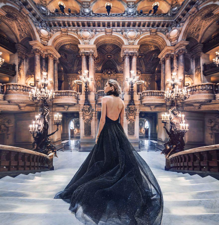 交相辉映:我的裙子和风景是绝配(组图)