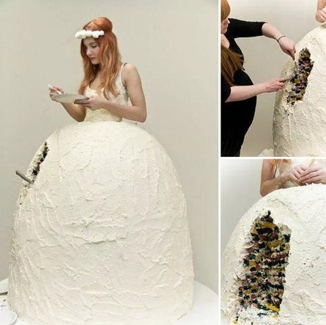 Phì cười với những bộ váy cưới thảm họa, nếu không hù quan khách chết khiếp thì cũng khiến chú rể bỏ của chạy lấy người - Ảnh 2.
