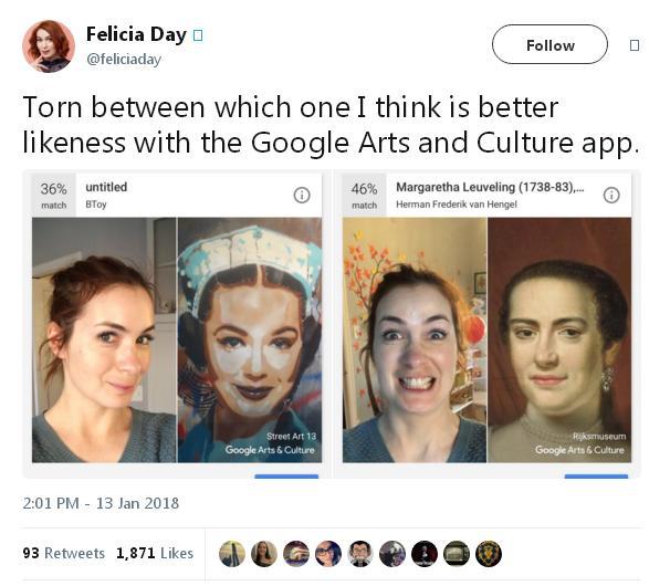 """谷歌应用""""名画匹配""""功能:测测你和哪幅名画撞脸了"""