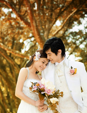 Twins Shot Wedding Pictures 英语点津