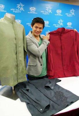 新加坡提前展示APEC峰会领导人服装
