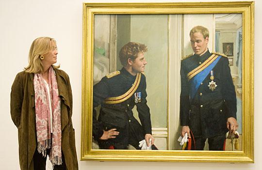英王子兄弟肖像画曝光 尽显手足之情