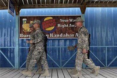 驻阿美军将关闭快餐店