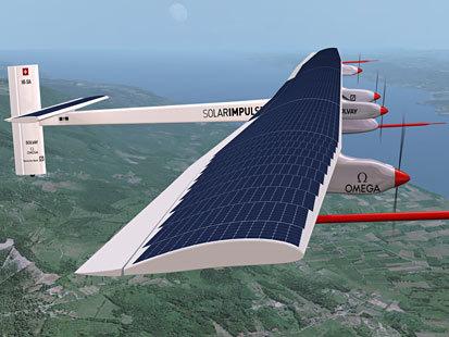 世界首架太阳能飞机瑞士试飞