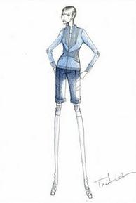 设计师为日本女宇航员打造时尚太空服