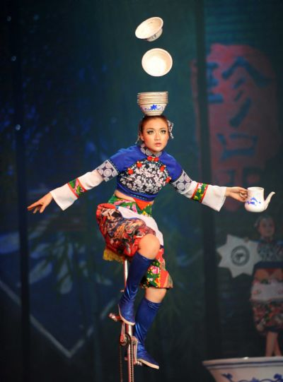Stage show CHA performed during Expo