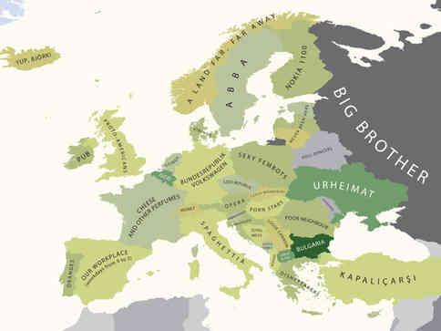 欧洲高清地图图片