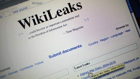 维基解密曝光密件 美称将展开刑事调查