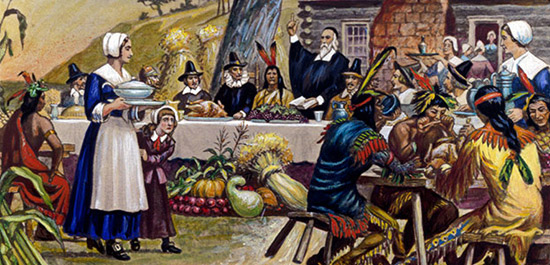 第一个感恩节时,人们吃的什么?