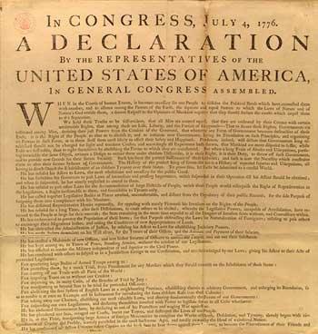 美国独立日:美国独立宣言全文(双语)[1]-英语点
