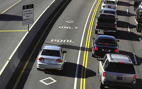 拼车专用道 HOV lane