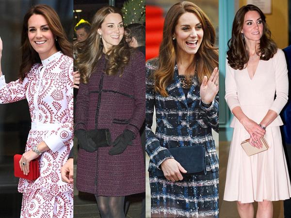 束腰大衣,蕾丝裙,裸色船鞋 凯特王妃的6大穿搭